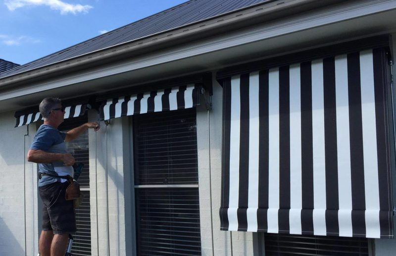Outdoor Roller Blinds Installation in Newcastle, Hawks Nest, Port Stephens and the Hunter Valley